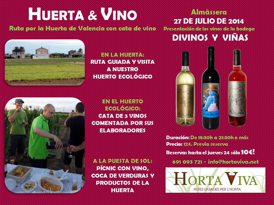 Horta & Vino con Divinos y Viñas
